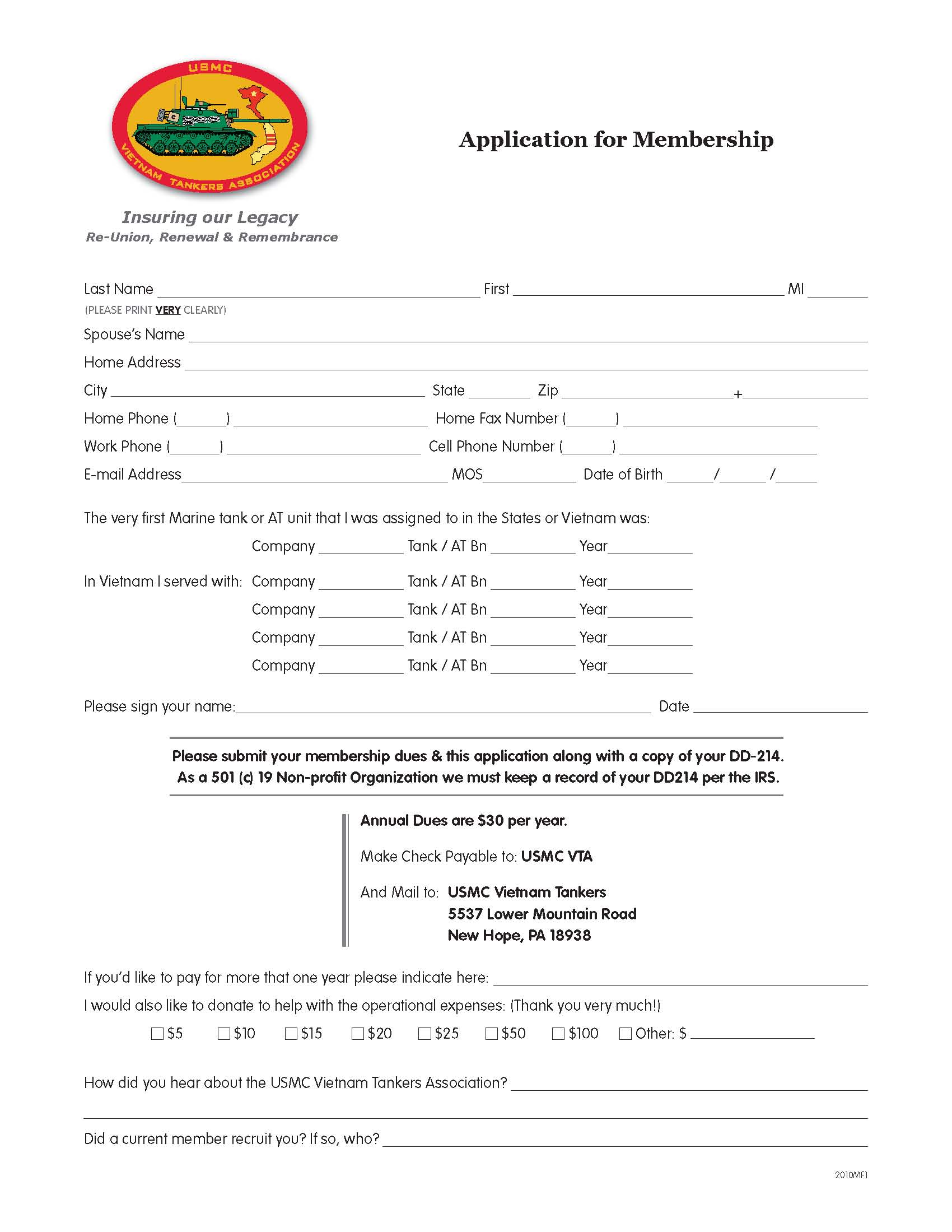 Joining Form Format How to Join Membership Form
