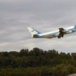 during our visit to the Boeing Museum of Flight, Air Force 1 landed and left Seattle