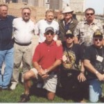 """Front, Wally Young, Lloyd Reynolds, Larry Parshall. Rear, Harry Christensen, ??, Jack Butcher, """"Alphie"""", Mark Anderson."""