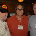 Charles Chinnis, CB Doten and Rick Walters enjoy the Slopechute hospitality room