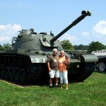 Day-2-Garry-Hall-his-wife-Donna-wishing-to-be-on-the-crew-of-this-one-at-Aberdeen-Proving-Grounds-Ordinance-Museum