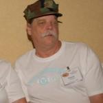 Ed Albright enjoys the Slopechute hospitality room