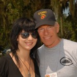 Fred Kellogg and his beautiful daughter at Parris Island