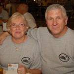 Garry & Donna Hall enjoy a noon meal at a Parris Island mess hall