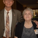 George Palmer and his wife ready for the Farewell Dinner