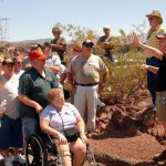 John Wear & Bob Peavey give the straight scoop to the gathered crowd at Lake Powell