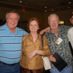 "Larry Mobley & wife, Gene Hackemack and Wally YoungJim Coan, Ray Byrnes and ""El Supremo"" Lugo"