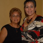 Maria Rodriguez and Martha Zagora all dolled up for the Farewell Dinner