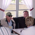 Mississippi River Boat Larry Parshall Unknown Pappy Reynolds and Bill Wright enjoy adult beverages