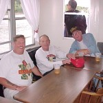Mississippi River Boat Wes Tiny Kilgore Unknown and Bill Wright