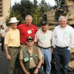 """L to R. """"Alphie"""", Mike Flick, Fred Rivero, """"Tory"""" Cole. Front. """"Pappy""""."""