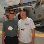 Pete Ritch and Ron Knight on the fight deck of the USS Yorktown