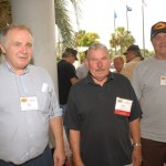 Rick Walters, Fritz Ferring and Milo Plank getting ready to tour the USS Yorktown