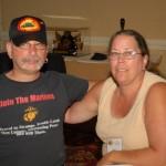 Ron & Carol Carlucci enjoy the air conditioning