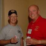 Ron Knight and Herb Steigelman make plans to take over the room