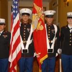 The USMC Color Guard...