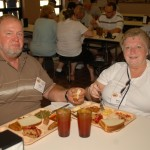 Tom & Becky Snyder at the Parris Island mess hall