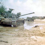 Charlie Company tank with Koreans at Hoi An, 1968