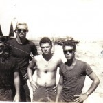 Quang Tri late Oct.1968 left to right Nick Appa, Bob Vaxter,Donnie Bell, Kurt Foster
