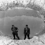Two Grunts in a bomb crater. Picture by Tom Finerty Opp Hickory May 67