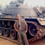 Cpl John Wear receives a brand new flame tank (F-31) at Dong Ha tank ramp...April 1968