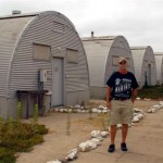 Glenn at the Quonset Huts
